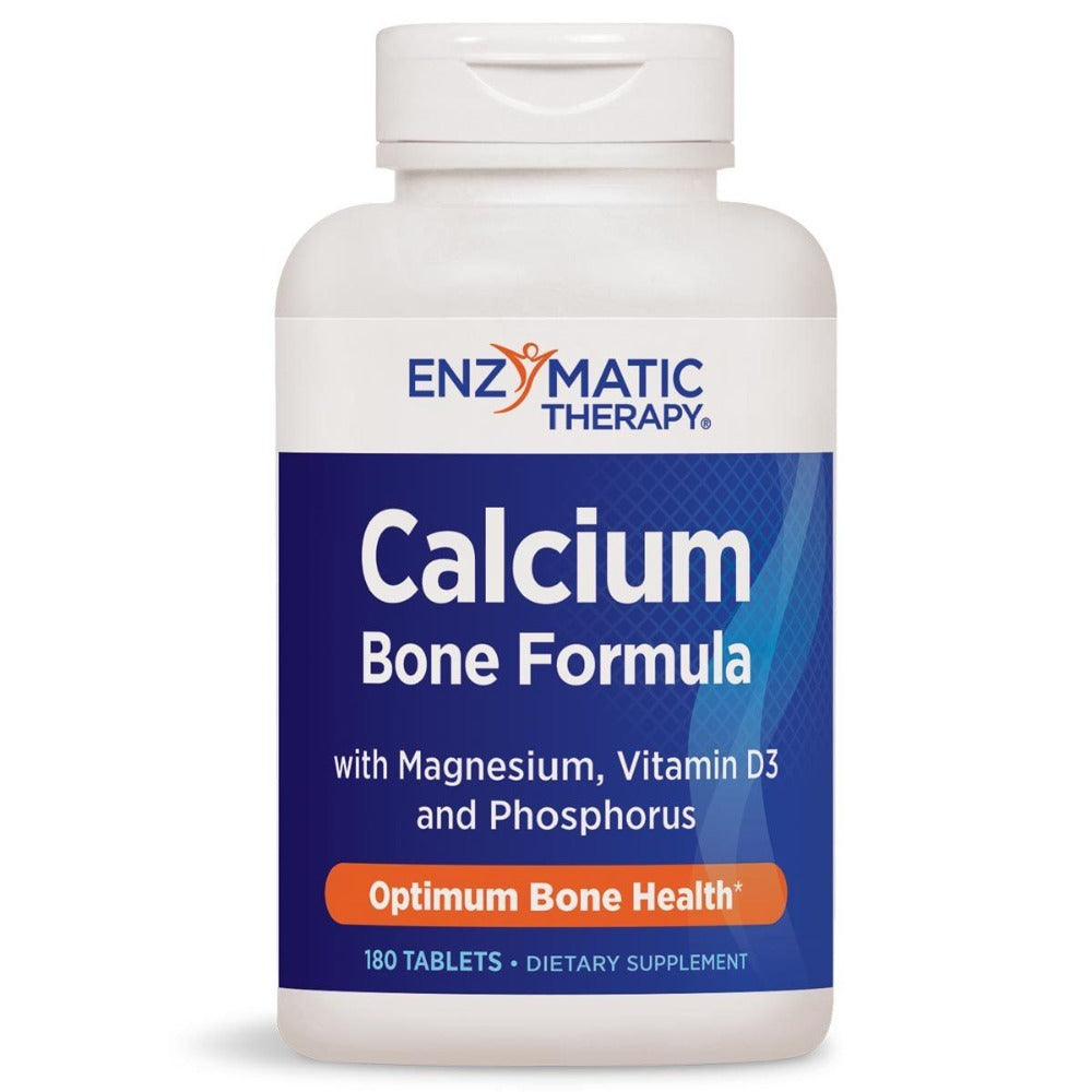 Enzymatic Therapy Calcium With Magnesium, Phosphorous, and Vitamin D 180 Tablets Minerals Enzymatic Therapy  (1057984938027)