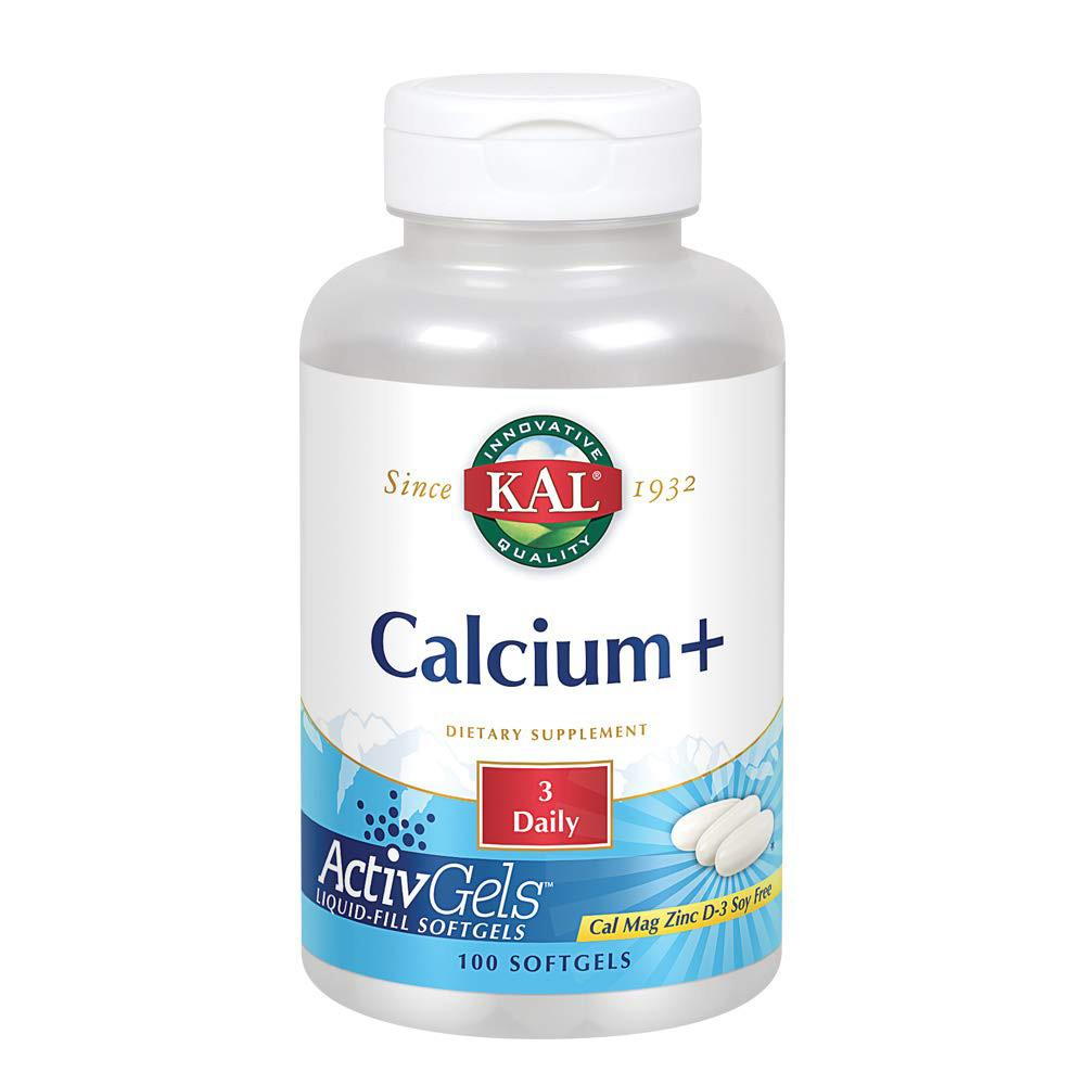 Kal Calcium Plus 1000mg 100 Count | Bone & Tooth Support Vitamins & Minerals Kal  (1778933301291)