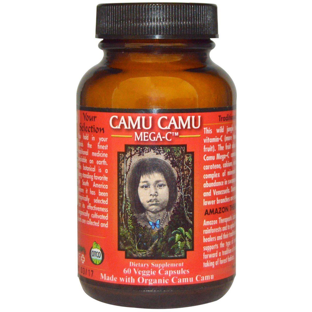 Amazon Therapeutic Labs Camu Camu Mega C 500mg 60 Caps Vitamins Amazon Therapeutic Labs  (1059029221419)