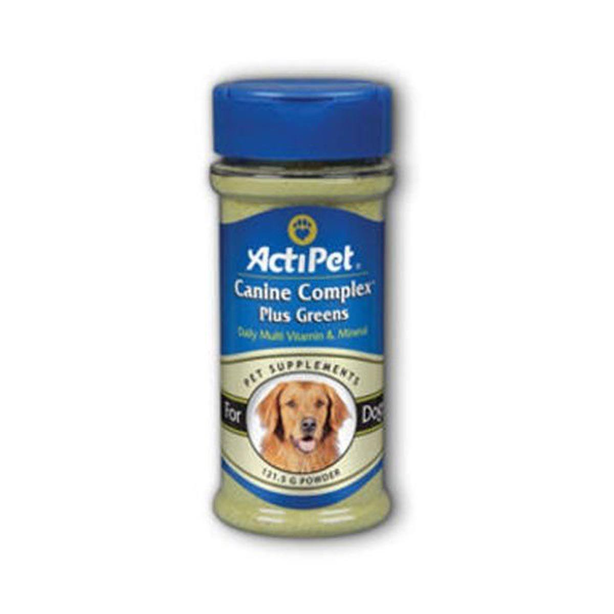 ActiPet Canine Complex Plus Greens 121.5g Powder Pet Supplements ActiPet  (1058034024491)