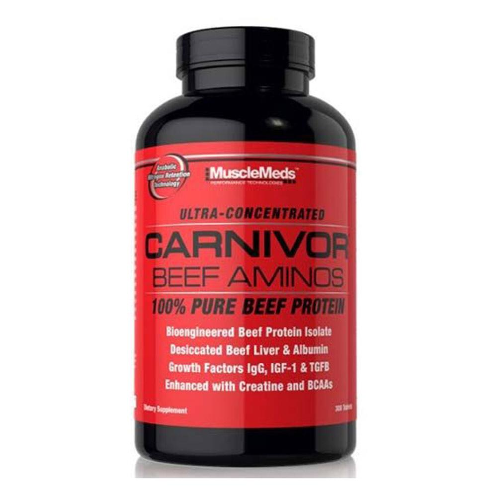 Muscle Meds Carnivor Beef Aminos 300 Tablets Amino Acids MuscleMeds