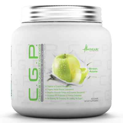 Metabolic Nutrition C.G.P. 400 Grams Creatine Metabolic Nutrition Green Apple  (1058822029355)