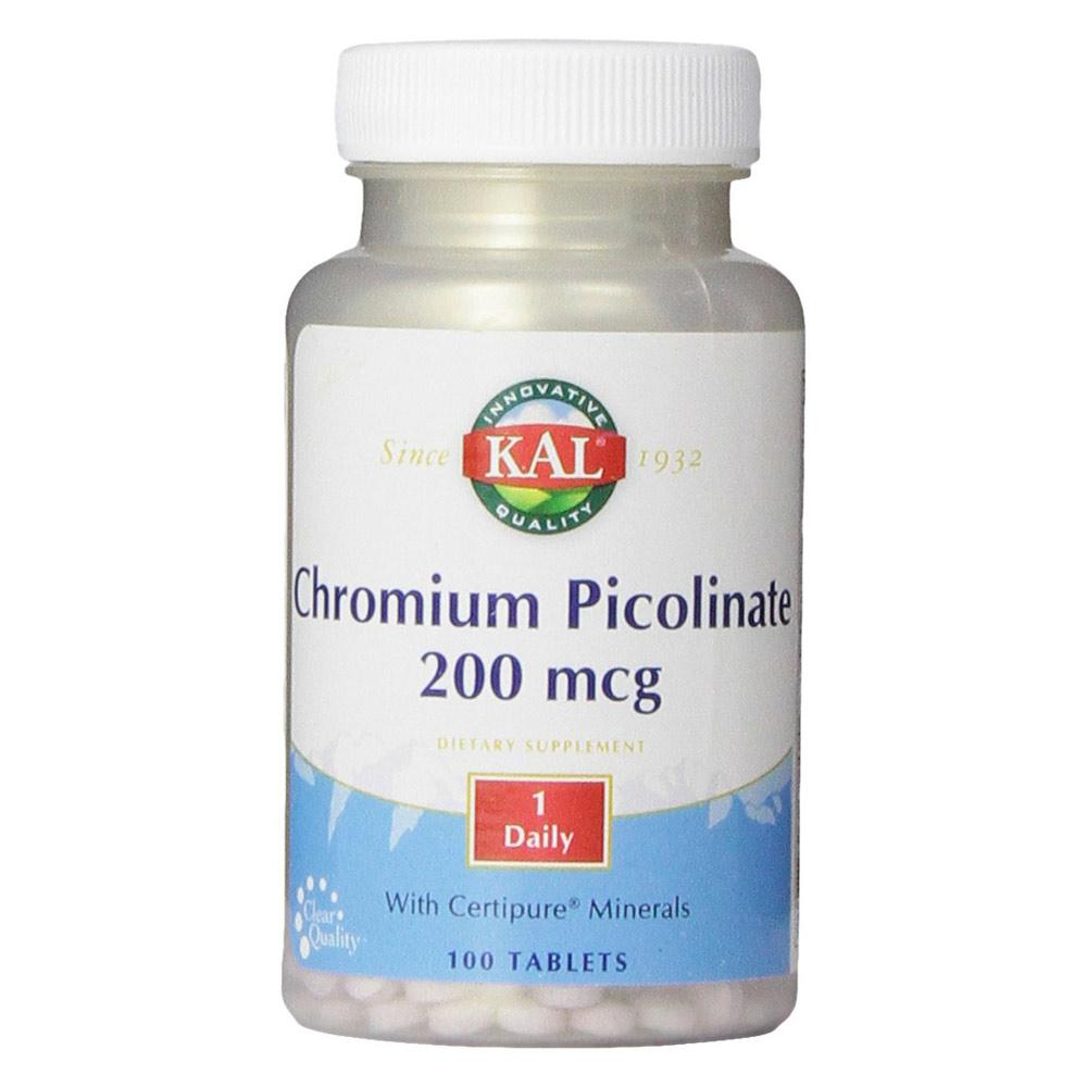 Kal Chromium Picolinate 200mcg 100 Tablets | Insulin & Glucose Support Vitamins & Minerals Kal  (1778940772395)