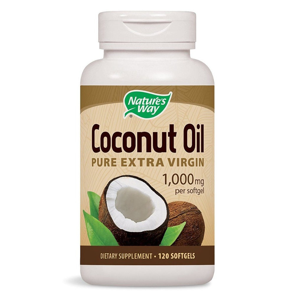 Nature's Way Coconut Oil 120 Softgels Omega Fatty Acids / EFAs Nature's Way  (1058845065259)