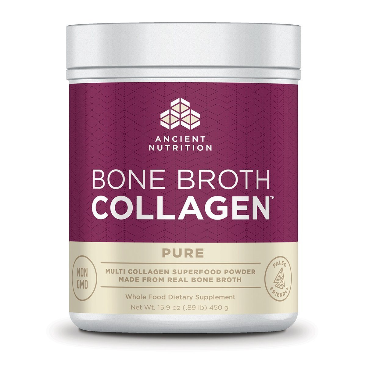 Ancient Nutrition Bone Broth Collagen 30 Servings Protein Ancient Nutrition Unflavored  (1059283828779)