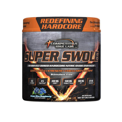 Competitive Edge Labs Super Swole 20 Servings Nitric Oxide Competitive Edge Labs Grape Blue Raspberry  (4364490702913)