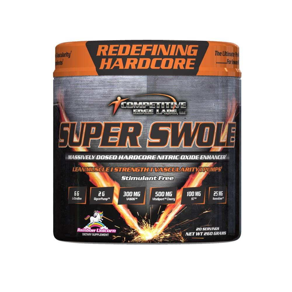 Competitive Edge Labs Super Swole 20 Servings Nitric Oxide Competitive Edge Labs Rainbow Unicorn  (4364490702913)