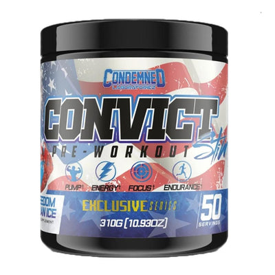 Condemned Labz Convict 50 Servings Pre-Workouts Condemned Labratoriez Freedom Italian Ice  (4406505734209)