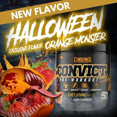 Condemned Labz Convict 50 Servings Pre-Workouts Condemned Labratoriez LIMITED Orange Monster  (4406505734209)