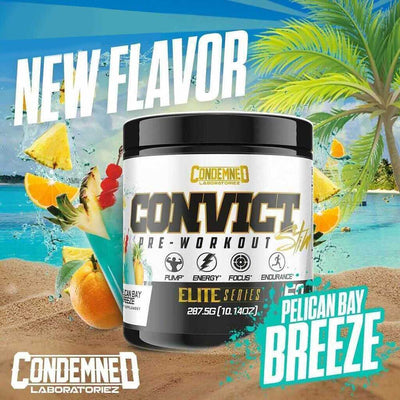 Condemned Labz Convict 50 Servings Pre-Workouts Condemned Labratoriez Pelican Bay Breeze