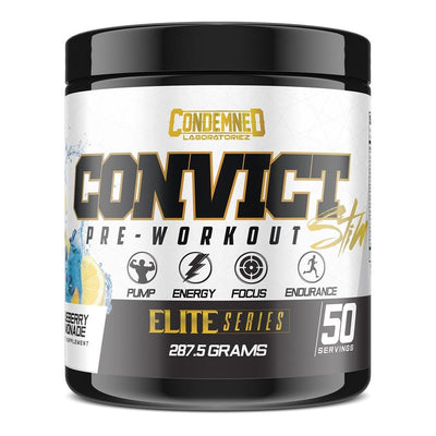 Condemned Labz Convict 50 Servings Pre-Workouts Condemned Labratoriez Blueberry Lemonade  (4406505734209)