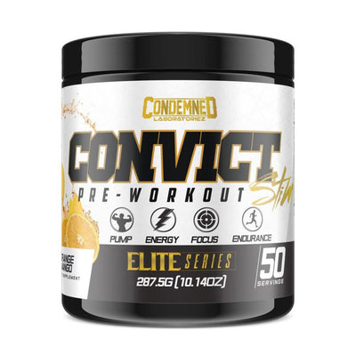 Condemned Labz Convict 50 Servings Pre-Workouts Condemned Labratoriez Orange Mango  (4406505734209)