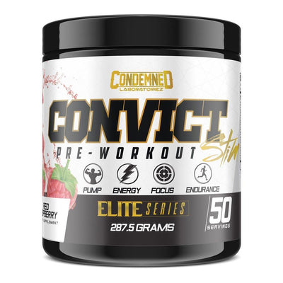 Condemned Labz Convict 50 Servings Pre-Workouts Condemned Labratoriez Red Raspberry  (4406505734209)