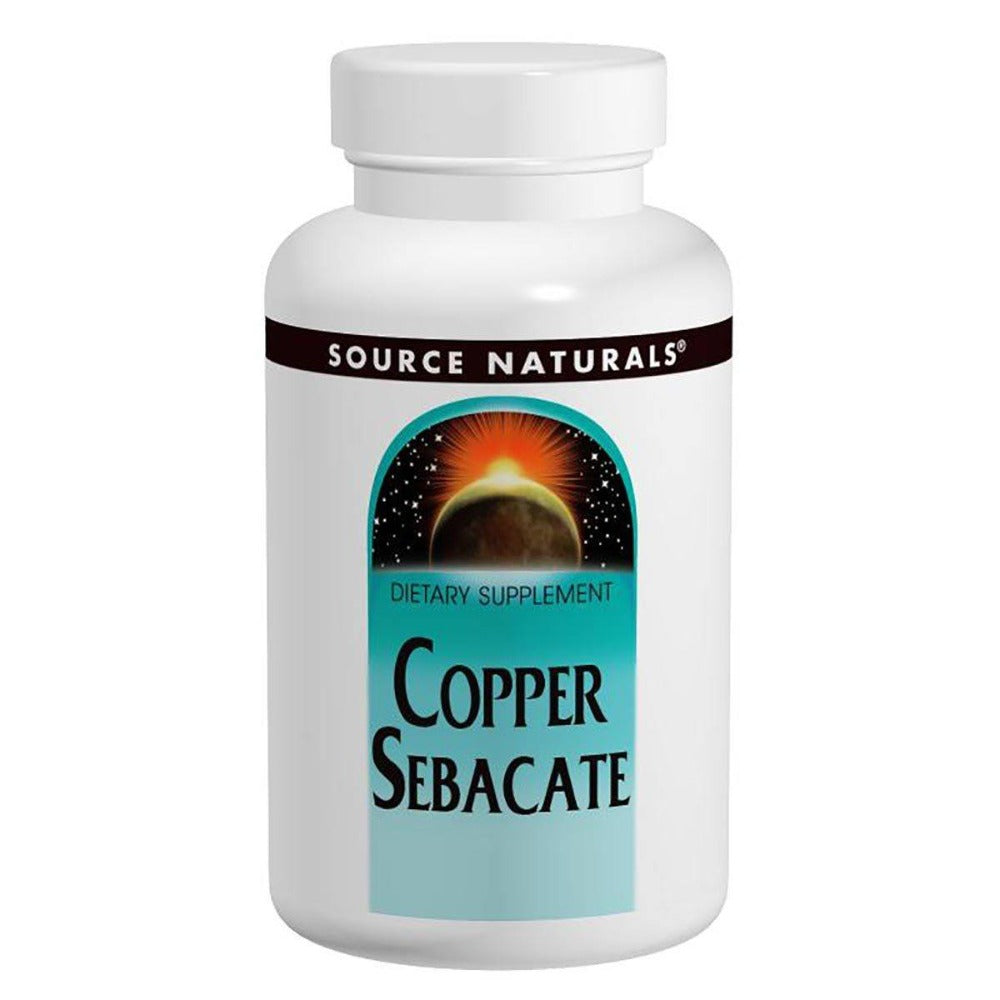 Source Naturals Copper Sebacate 22mg 120 Tablets Minerals Source Naturals  (1058052440107)