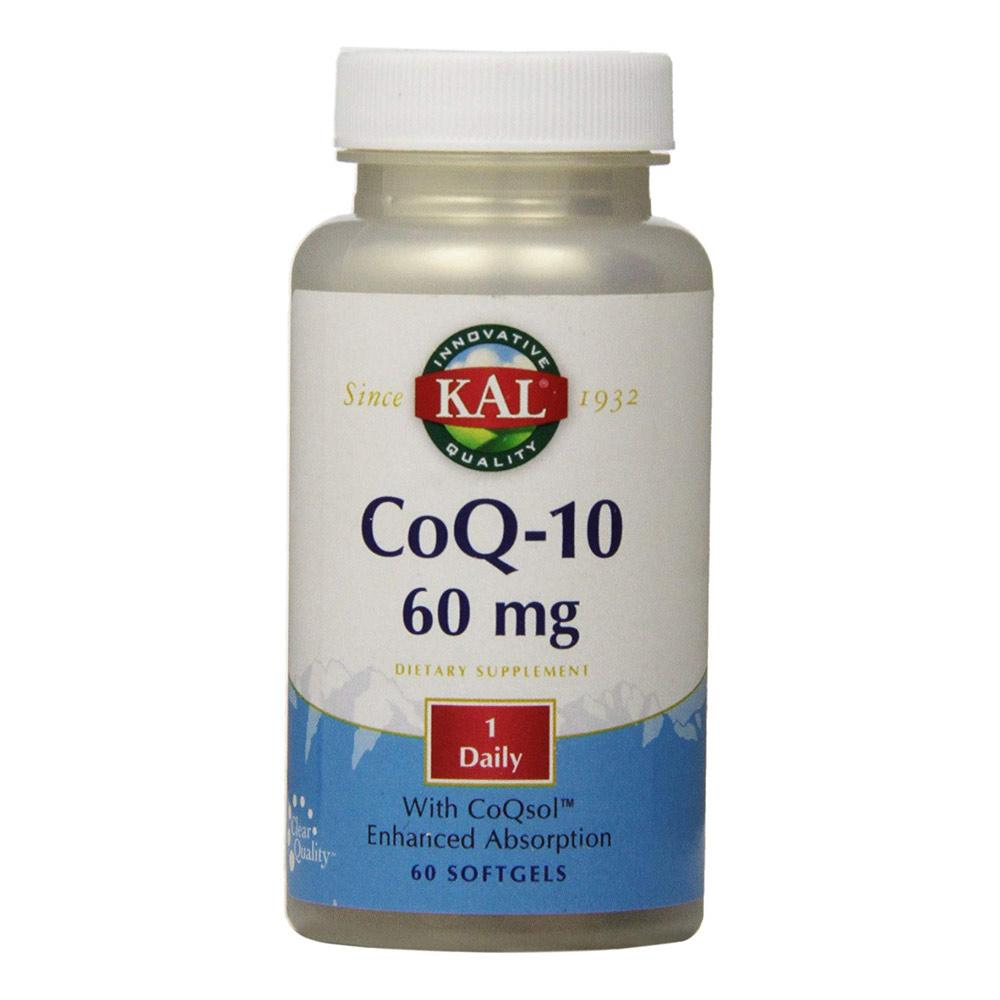 Kal CoQ-10 60mg 60 Softgels Specialty Health Products Kal  (1778942738475)