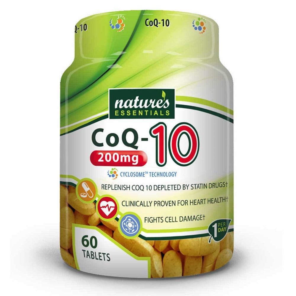 Nature's Essentials CO-Q10 200mg 60 Tablets Antioxidants / CoQ-10 Nature's Essentials  (1059294609451)