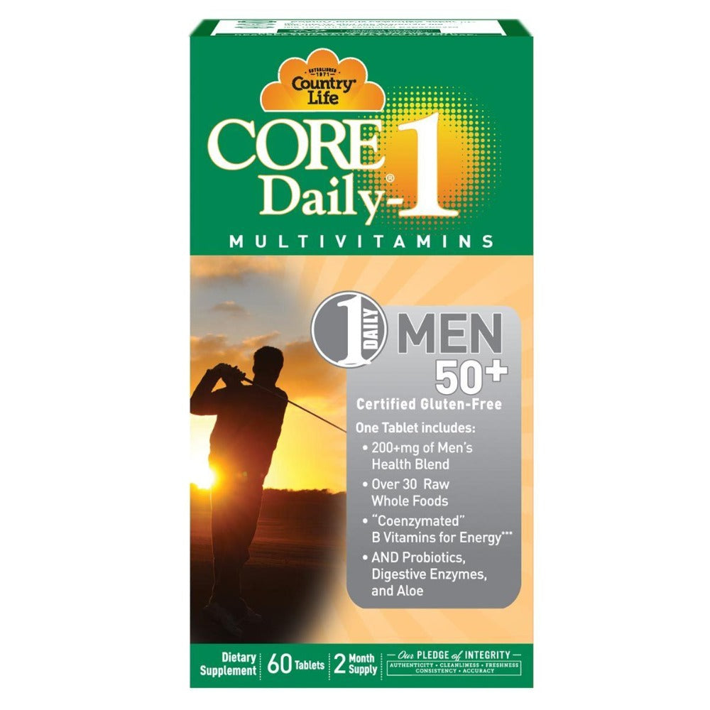 Country Life Core Daily-1 Men 50+ 60 Tabs Vitamins Country Life  (1058784608299)