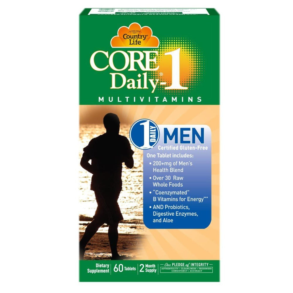Country Life Core Daily-1 Men 60 Tabs Vitamins Country Life  (1058783952939)