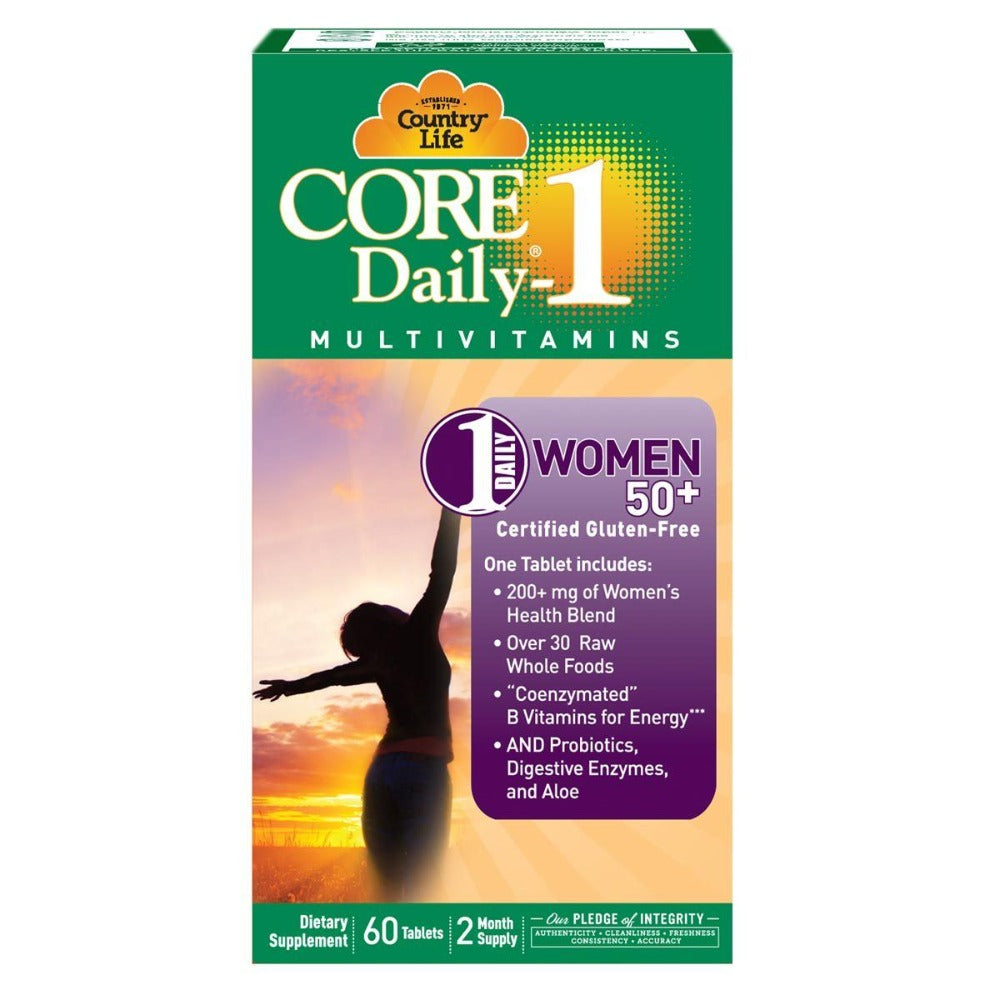 Country Life Core Daily-1 Women 50+ 60 Tabs Vitamins Country Life  (1058782937131)