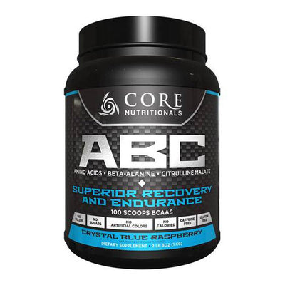 Core Nutritionals ABC 50 Servings Amino Acids Core Nutritionals Crystal Blue Raspberry  (4405703376961)