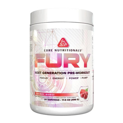 Core Nutritionals Fury 20 Servings Pre-Workouts Core Nutritionals Cherry Burst  (4405705605185)