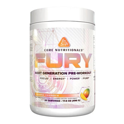 Core Nutritionals Fury 20 Servings Pre-Workouts Core Nutritionals Tropic Thunder  (4405705605185)