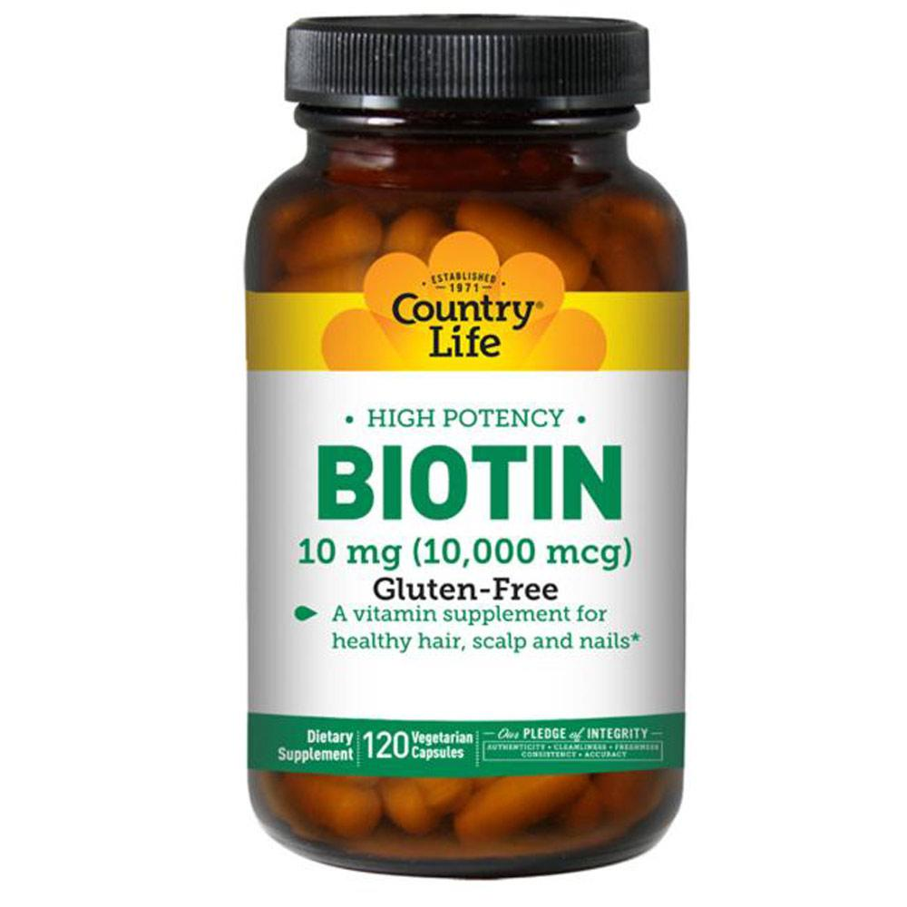 Country Life Biotin 10mg 120 Capsules Vitamins & Minerals Country Life  (4356305354817)