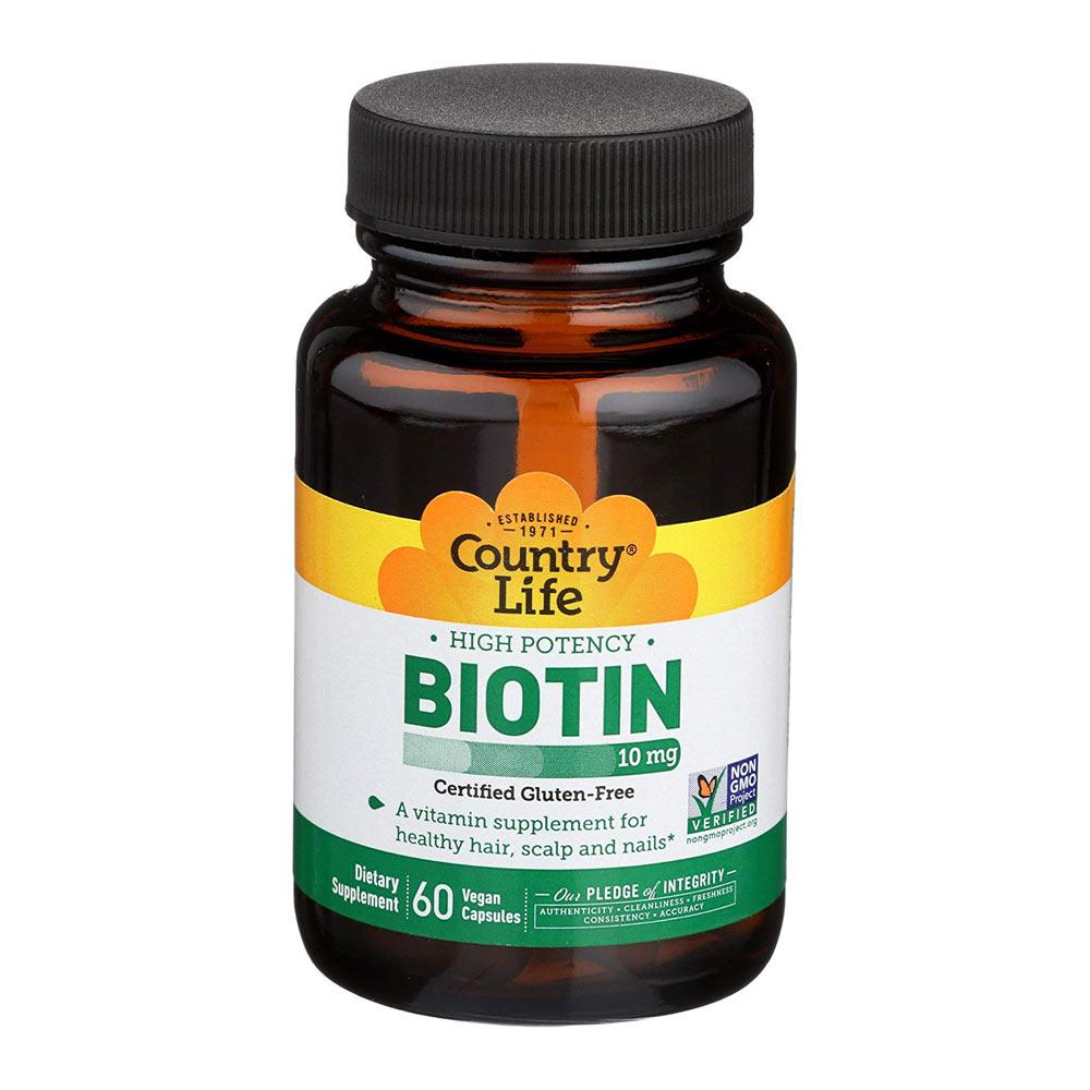 Country Life Biotin 10mg 60 Capsules Vitamins & Minerals Country Life  (4356303585345)