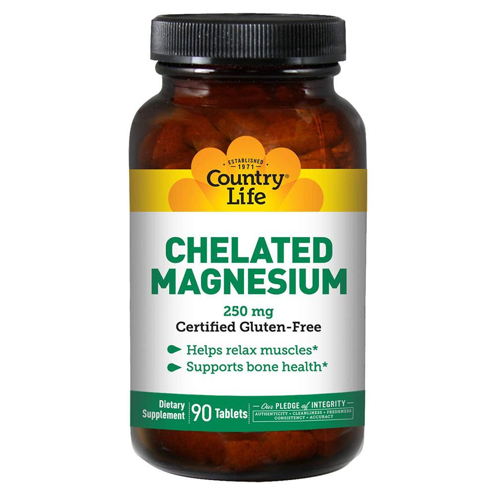 Country Life Chelated Magnesium 250mg 90T Vitamins & Minerals Country Life  (1766714015787)