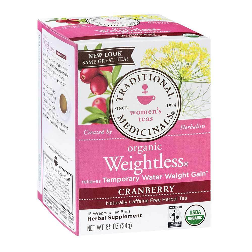 Traditional Medicinals Cranberry Weightless 16 Bags | Releves Water Weight Gain Teas Traditional Medicinals  (1780169506859)