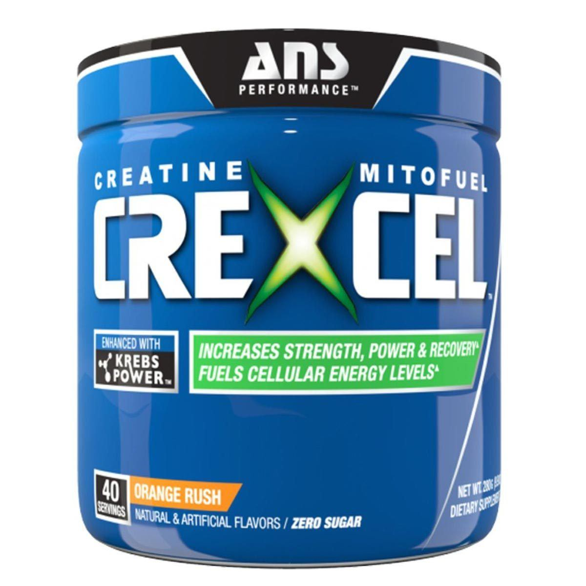 ANS Performance CreXcel 40 Servings Creatine ANS Performance Orange Rush  (1059080699947)