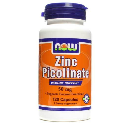 Now Foods Zinc Picolinate 50 Mg 120 Capsules Minerals Now Foods  (1059108978731)