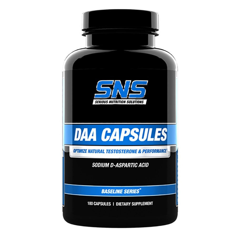 Serious Nutrition Solutions DAA Caps 180 Caps Testosterone Boosters Serious Nutrition Solutions  (1058664185899)