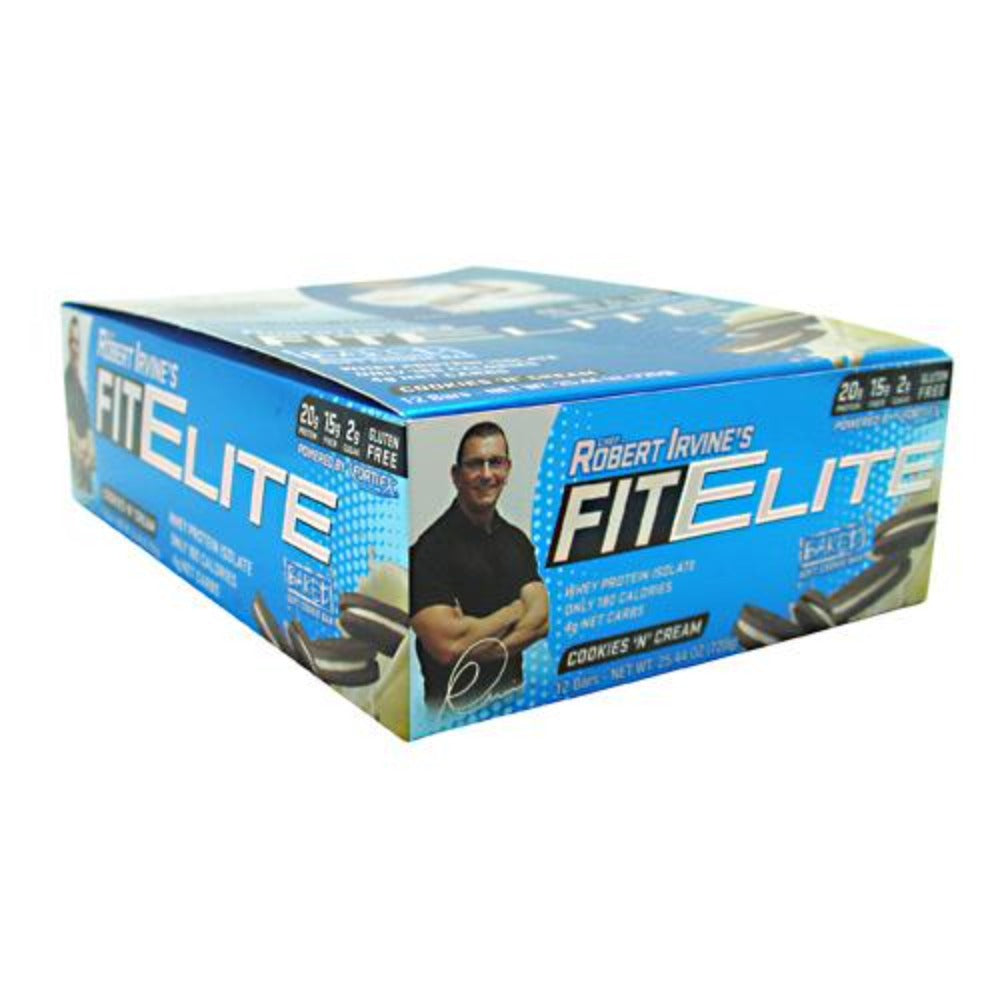 FortiFX Fit Elite Bar 12/Box Foods & Snacks FortiFX Cookies 'N' Cream  (1059199385643)