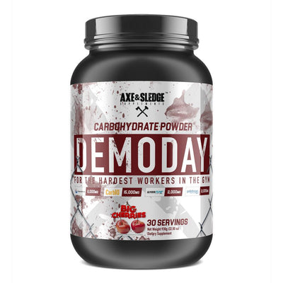 Axe & Sledge Demo Day 30 Servings | Carbohydrate Powder Sports Performance Recovery AXE & SLEDGE BIG CHERRY  (1812331135019)