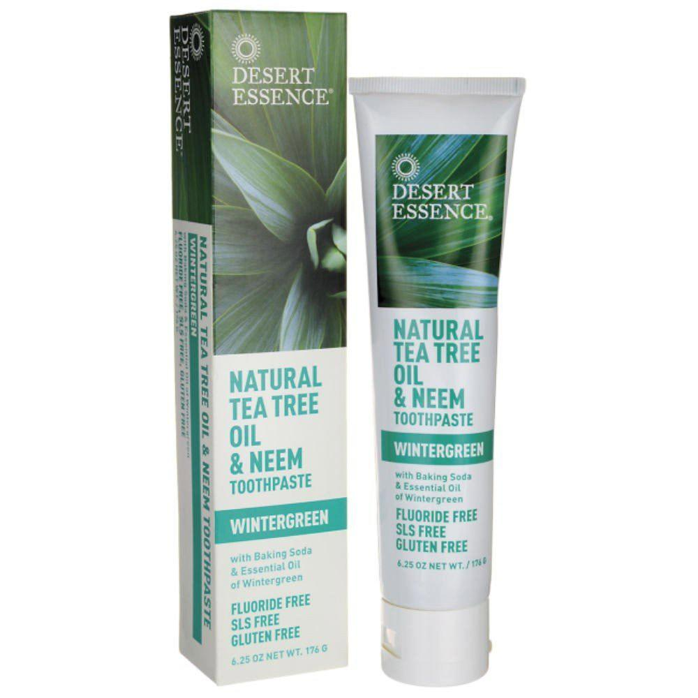 Desert Essence Toothpaste Tea Tree 7oz Specialty Health Products Desert Essence  (1766797410347)