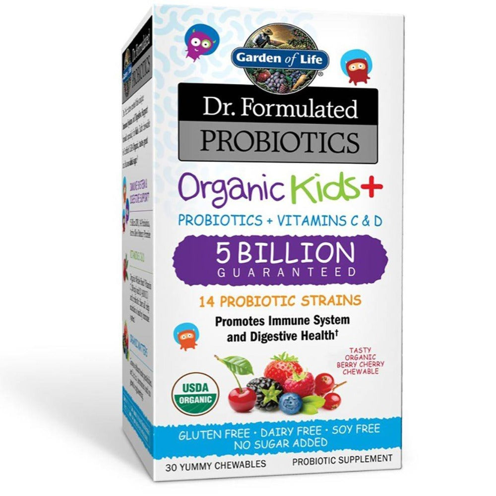 Garden of Life Dr. Formulated Probiotics Organic Kids+ 30 Chewables Digestive Health / Probiotics Garden of Life  (1059189424171)