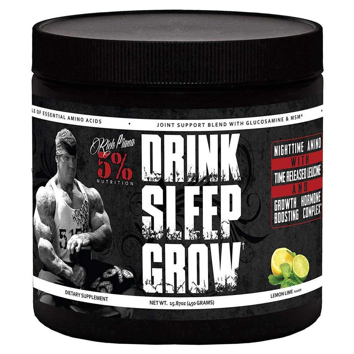 5% Nutrition Drink Sleep Grow 30 Servings Lemon Lime Amino Acids 5% Nutrition  (1458726535211)