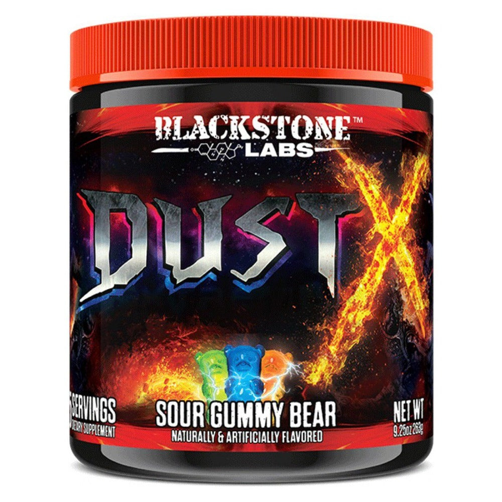 Blackstone Labs Dust X w/ DMHA 25 Servings (Was Dust Extreme) Diet/Energy Blackstone Labs Sour Gummy Bear  (1059235364907)