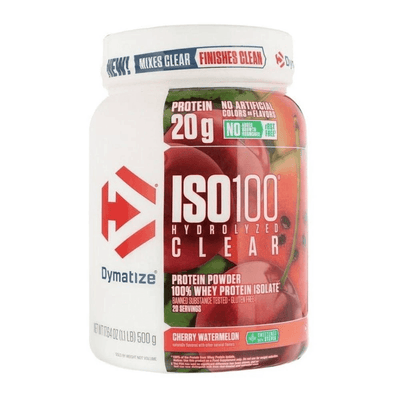 Dymatize Iso-100 Clear 20/sv Protein Powders Dymatize Cherry Watermelon  (4554578264129)