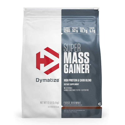 Dymatize Super Mass Gainer 12 Lbs Protein Dymatize Fudge Brownie  (1058763604011)