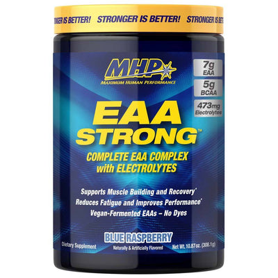 MHP EAA Strong 30 Servings Amino Acids MHP Blue Raspberry  (4468259651649)
