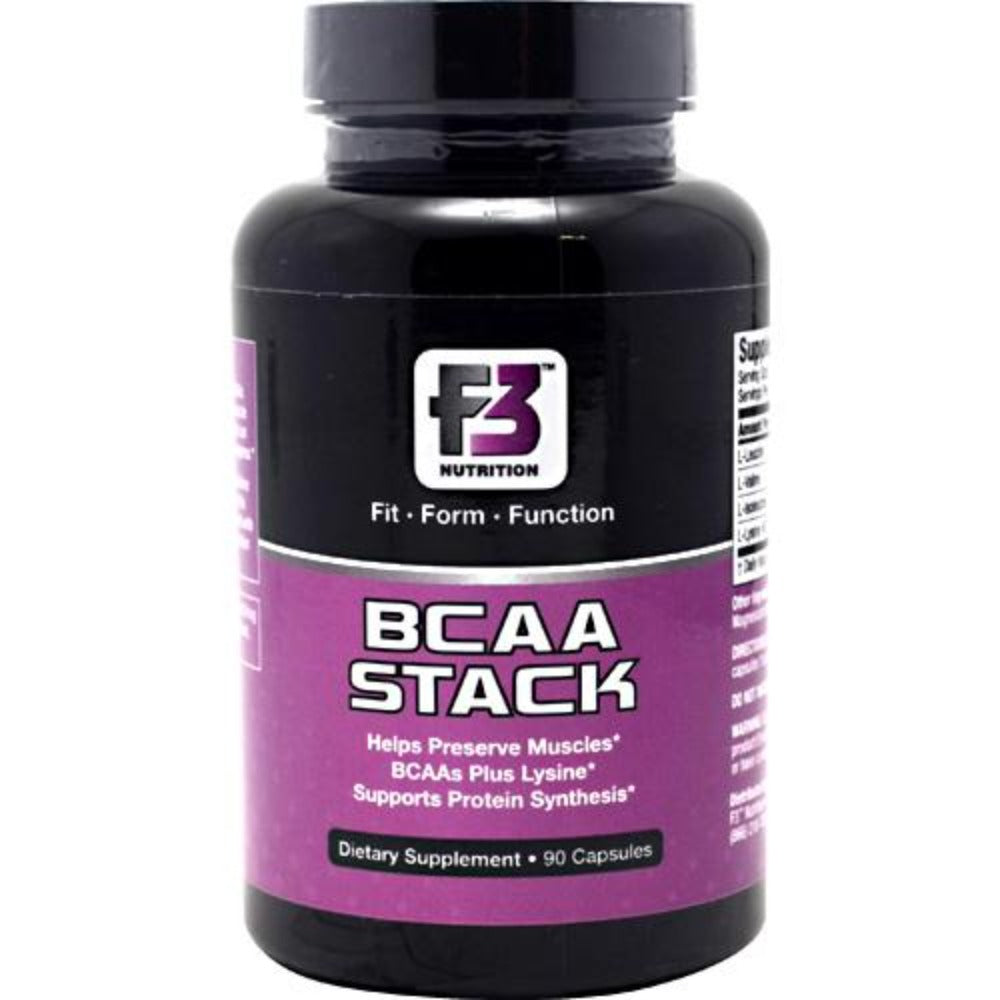 F3 Nutrition BCAA Stack 90 Caps Amino Acids F3 Nutrition  (1058873114667)
