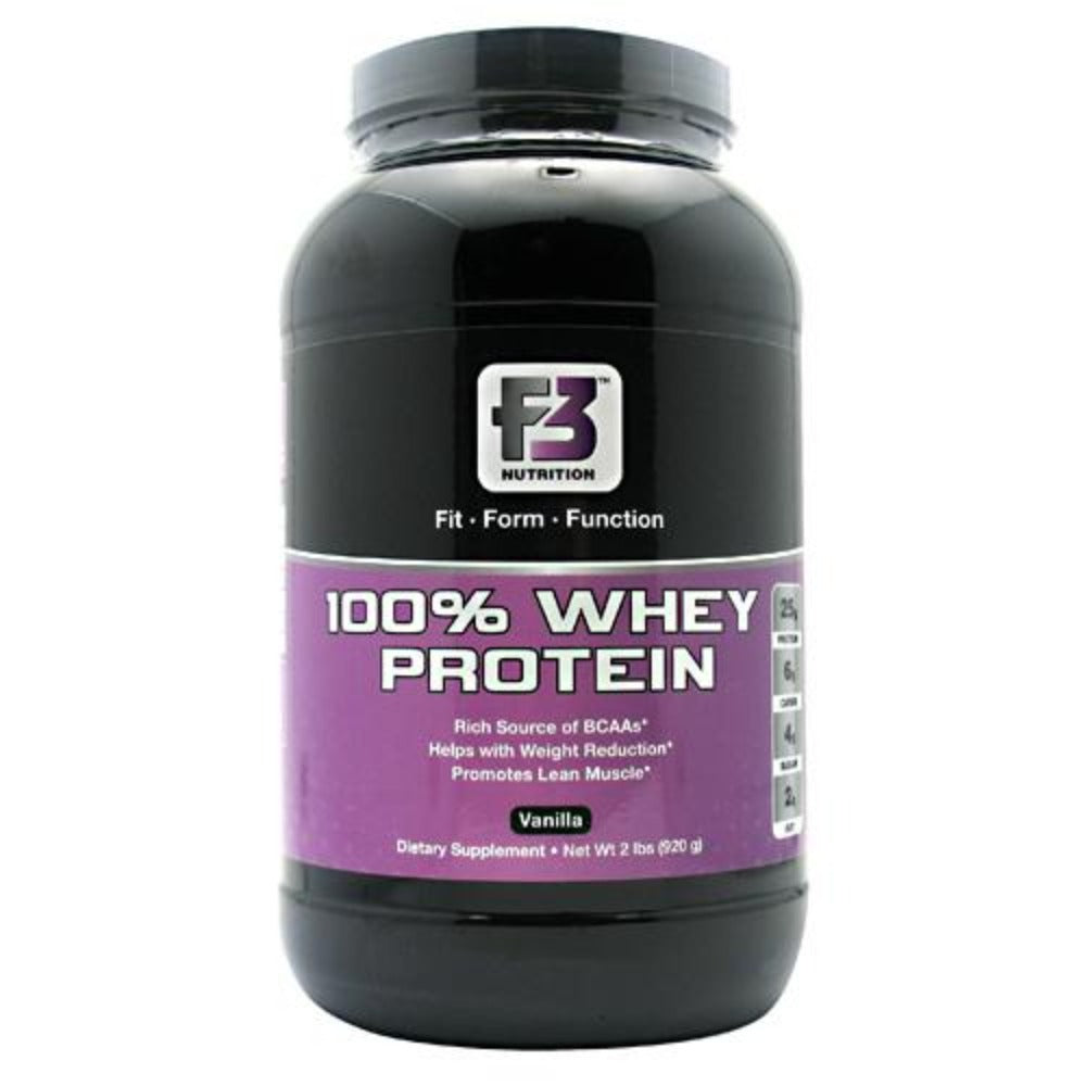 F3 Nutrition 100% Whey Protein 2 lbs (920g Protein F3 Nutrition Vanilla  (1058872557611)