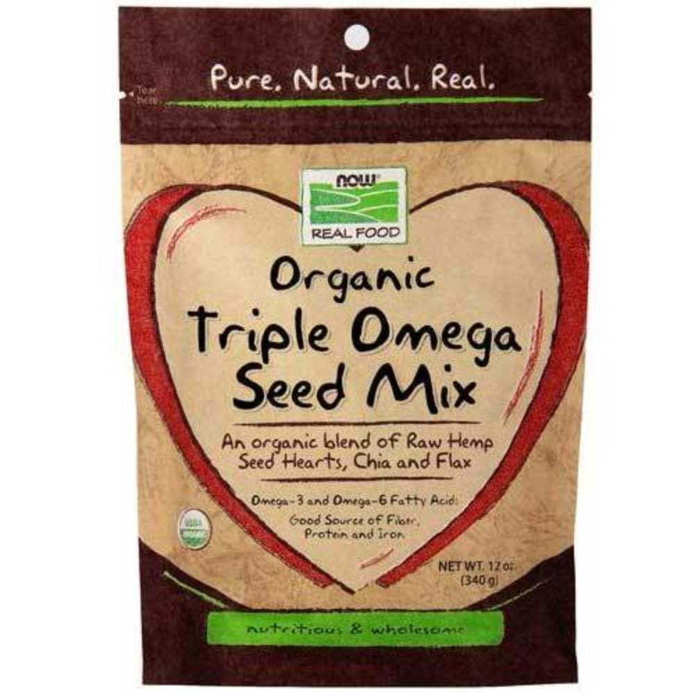 Now Foods Triple Omega Seeds Organic 12 Oz Foods & Snacks Now Foods  (1059158163499)