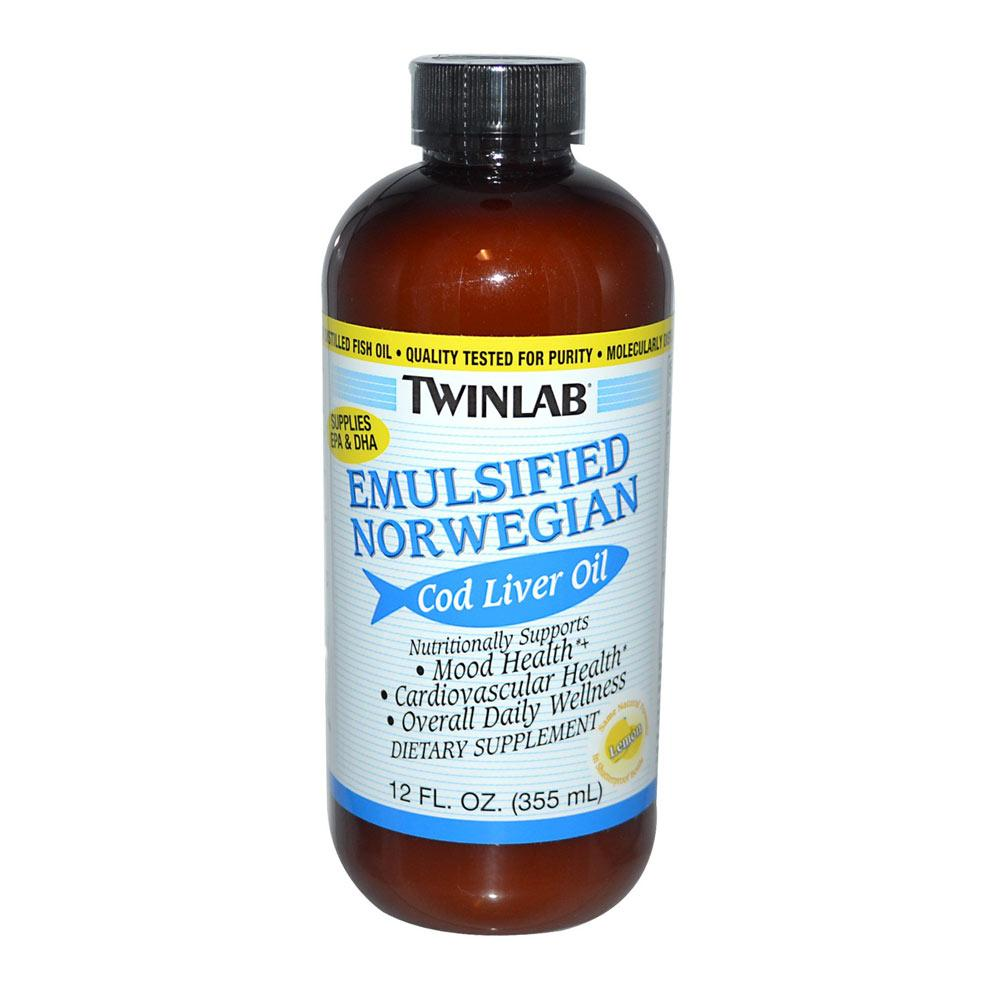 Twinlab Emulsified Norwegian Cod Liver Oil 12oz Essential Fatty Acids & - Oils Twinlab  (1781771730987)