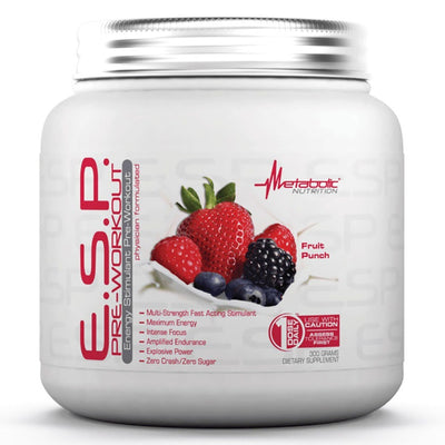 Metabolic Nutrition E.S.P. 300 Grams Pre-workout Metabolic Nutrition Fruit Punch  (1059080437803)
