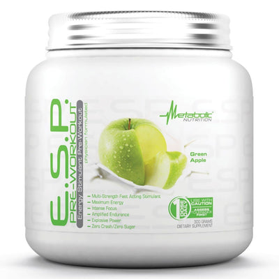 Metabolic Nutrition E.S.P. 300 Grams Pre-workout Metabolic Nutrition Green Apple  (1059080437803)