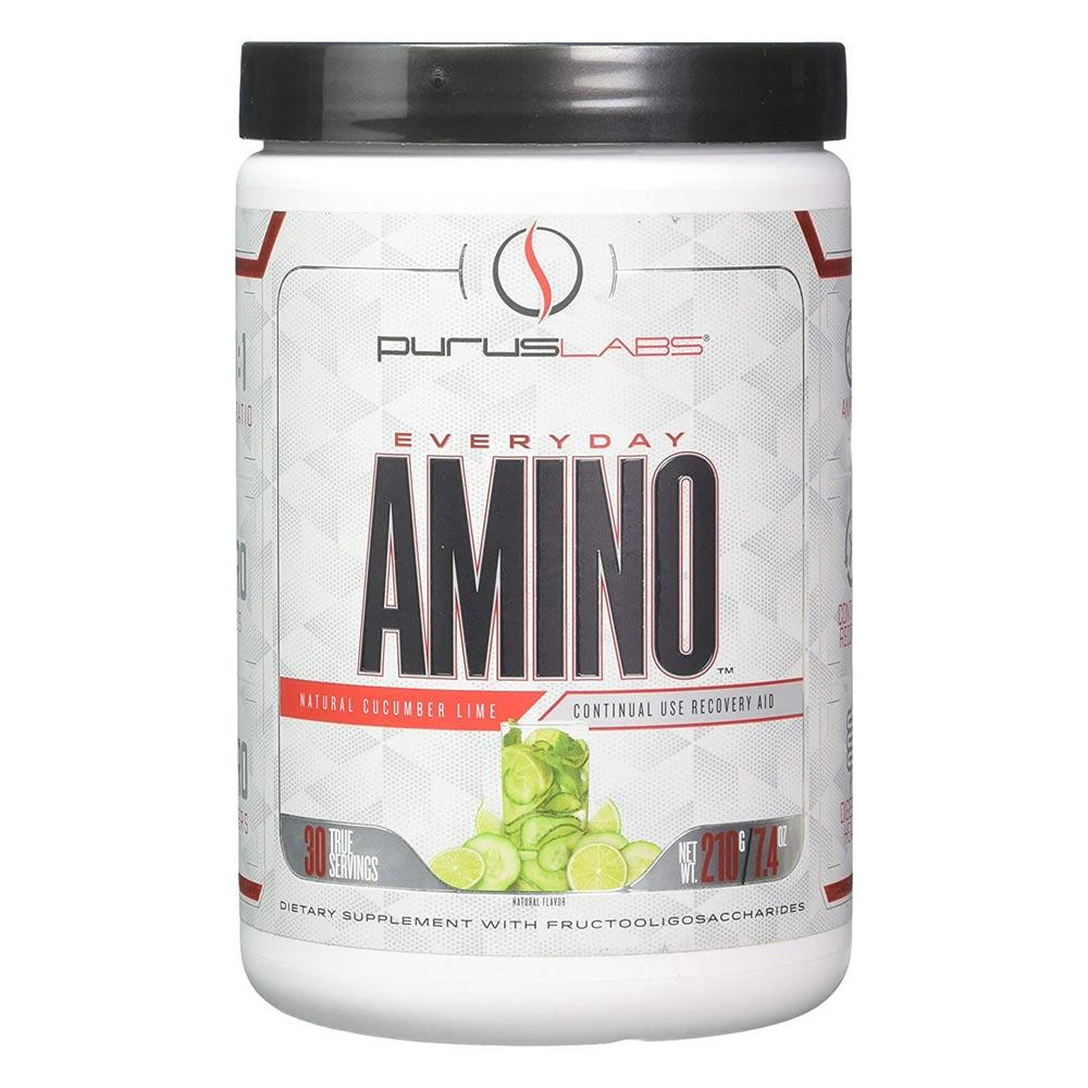 Purus Labs Everyday Amino Cucumber Lime 30 Servings Amino Acids Purus Labs  (4336577937473)