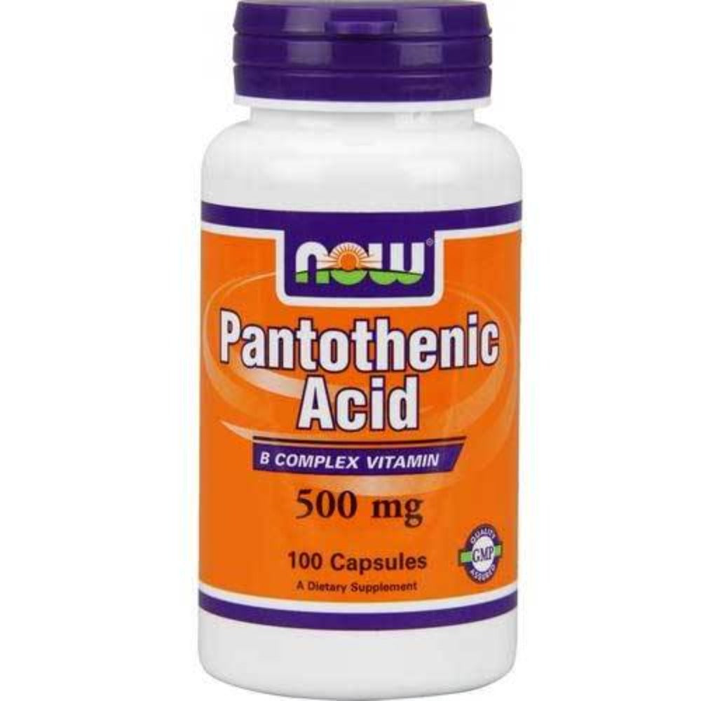 Now Foods Pantothenic Acid 500 Mg 100 Capsules Vitamins Now Foods  (1059131195435)